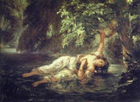 La mort d'Ophélie, Eugène Delacroix (1844)